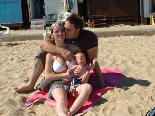Me, Mummy & Daddy On Clacton Beach