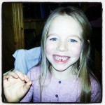Jaycee 1st tooth out.